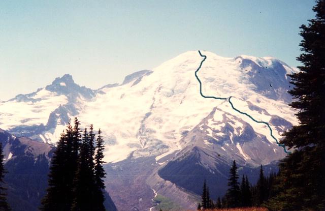 mt Rainier Routes Emmons Glacier The Emmons Glacier Route Seen